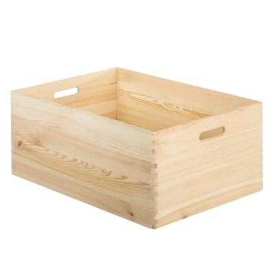 Caja de madera apilable
