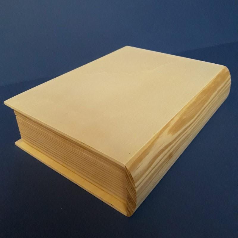 Caja libro de madera
