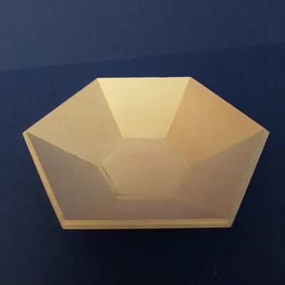 Bandeja hexagonal, vacía bolsillos